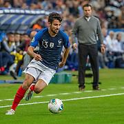 PARIS, FRANCE - September 10:  Leo Dubois #13 of France in action during the France V Andorra, UEFA European Championship 2020 Qualifying match at Stade de France on September 10th 2019 in Paris, France (Photo by Tim Clayton/Corbis via Getty Images)