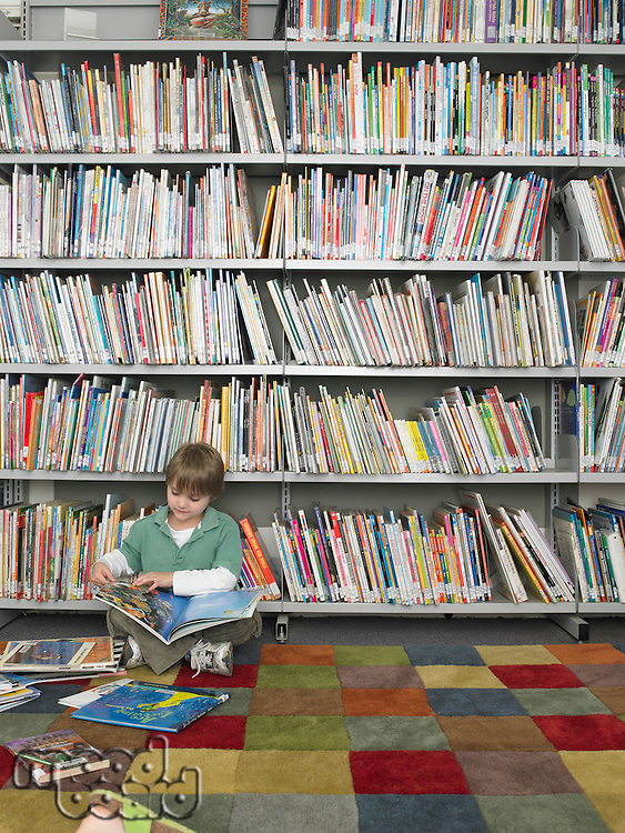 Boy with Picture Books