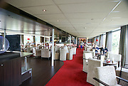 Rhine river boat cruise. Interior of the cruise boat