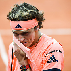 Alexander Zverev (Germany) during Day 4 for the French Open 2018 on May 30, 2018 in Paris, France. (Photo by Anthony Dibon/Icon Sport)