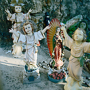"8"" angel figurines in a Texas border region grotto. NOTE: Click ""Shopping Cart"" icon for available sizes and prices. If a ""Purchase this image"" screen opens, click arrow on it. Doing so does not constitute making a purchase. To purchase, additional steps are required."