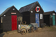 Fishing sheds at Southwold quay, Suffolk, England