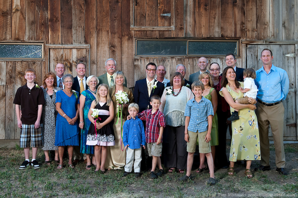 Wedding of Marshall and Megan in Mazama, Washington.