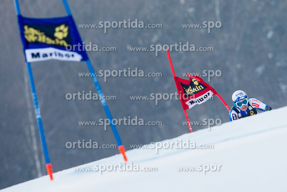 "STUHEC Ilka of Slovenia competes during 1st Run of FIS Alpine Ski World Cup 7th Ladies' Giant Slalom race named ""49th Golden Fox 2013"", on January 26, 2013 in Mariborsko Pohorje, Maribor, Slovenia. (Photo By Vid Ponikvar / Sportida.com)"