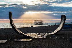 Brighton, UK. Brighton Palace West Pier at Sunset. Photo Credit: Hugo Michiels