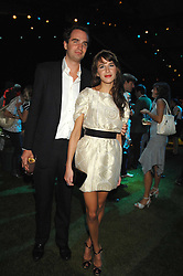 FRITZ VON WESTENHOLZ and CAROLINE SIEBER at a party to celebryate the launch of the Spring Summer 2008 adidas collection by Stella McCartney held at the Westway Sports Centre, off Latimer Road, London W10 on 20th September 2007.<br />