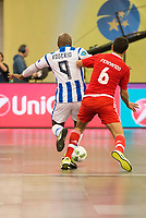 Benfica's Fernando and Pescara's Rogerio during UEFA Futsal Cup 2015/2016 3º/4º place match. April 22,2016. (ALTERPHOTOS/Acero)