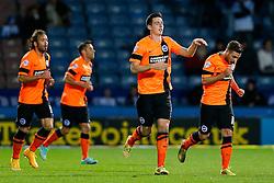 Lewis Dunk of Brighton celebrates scoring a goal to make it 1-1 - Photo mandatory by-line: Rogan Thomson/JMP - 07966 386802 - 21/10/2014 - SPORT - FOOTBALL - Huddersfield, England - The John Smith's Stadium - Huddersfield Town v Brighton & Hove Albion - Sky Bet Championship.
