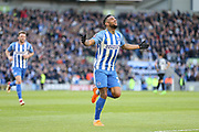 Brighton and Hove Albion striker Jurgen Locadia (25) celebrates the opening goal 1-0 during the The FA Cup match between Brighton and Hove Albion and Coventry City at the American Express Community Stadium, Brighton and Hove, England on 17 February 2018. Picture by Phil Duncan.