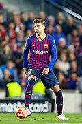 Barcelona defender Gerard Piqué (3) during the Champions League semi-final leg 1 of 2 match between Barcelona and Liverpool at Camp Nou, Barcelona, Spain on 1 May 2019.