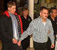 FILE PHOTO:  Richard Wise, left, and Herbert Haake, right, are led to a courtroom at the Bucks County Courthouse in Doylestown, PA. for charges unrelated to the murder of Center City Philadelphia jogger, Kimberly Ernst, May 28, 1996. Haake was sentenced 15 to 30 years for the assault and robbery of a gay man in Philadelphia several  years ago. MANDATORY CREDIT:(William Thomas Cain/photojournalist.cc)