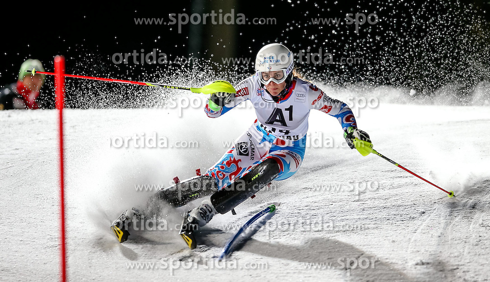 13.01.2015, Hermann Maier Weltcupstrecke, Flachau, AUT, FIS Weltcup Ski Alpin, Flachau, Slalom, Damen, 1. Lauf, im Bild Nastasia Noens (FRA) // Nastasia Noens of France in action during 1st run of the ladie's Slalom of the FIS Ski Alpine World Cup at the Hermann Maier Weltcupstrecke in Flachau, Austria on 2015/01/13. EXPA Pictures © 2015, PhotoCredit: EXPA/ Johann Groder