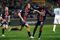FOOTBALL - FRENCH CHAMPIONSHIP 2010/2011 - L1 - OLYMPIQUE DE MARSEILLE v PARIS SG - 20/03/2011 - PHOTO PHILIPPE LAURENSON / DPPI - JOY CLEMENT CHANTOME (PSG) AFTER HIS GOAL