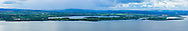 View overlooking Boa Island from Magho viewpoint in Lough Navar Forest Park at 135mm