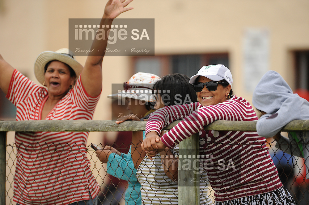 GEORGE, SOUTH AFRICA - Saturday 7 March 2015, the supporters scream for joy during the third round match of the Cell C Community Cup between Pacaltsdorp Evergreens and Vaseline Wanderers at Pacaltsdorp Sports Grounds, George<br /> Photo by Roger Sedres/ImageSA/ SARU