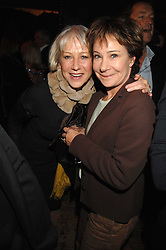 Left to right, DAME HELEN MIRREN and ZOE WANAMAKER at a reception to Discover Wilton's Music Hall held at the hall in Graces Alley, London E1 on 5th December 2007.<br />