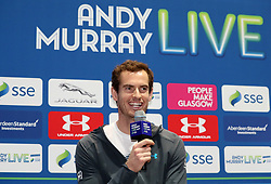 Andy Murray during the press conference ahead of the Andy Murray Live Event at the SSE Hydro, Glasgow.