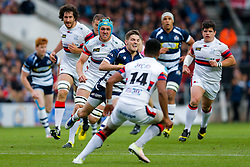 Bristol Rugby Scrum-Half Will Cliff breaks as Doncaster Knights Winger Andy Bulumakau defends  - Mandatory byline: Rogan Thomson/JMP - 25/05/2016 - RUGBY UNION - Ashton Gate Stadium - Bristol, England - Bristol Rugby v Doncaster Knights - Greene King IPA Championship Play Off FINAL 2nd Leg.