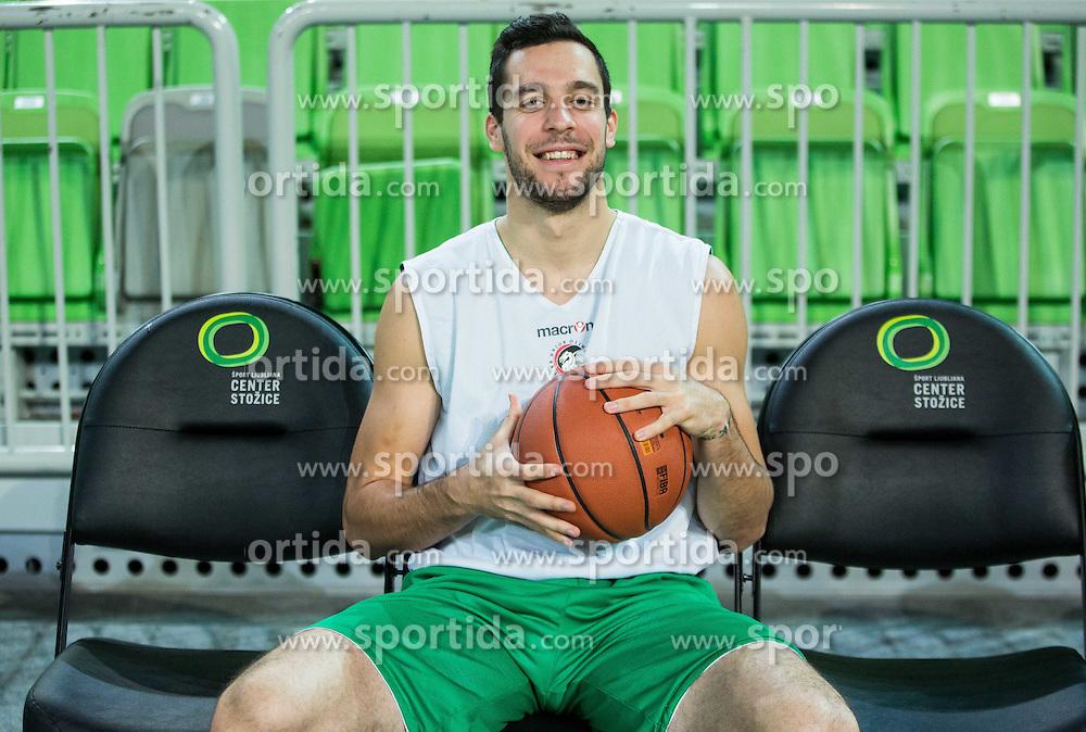 Mitja Nikolic during practice session of KK Union Olimpija before new basketball season 2015/16, on September 29, 2015 in Arena Stozice, Ljubljana, Slovenia. Photo by Vid Ponikvar / Sportida