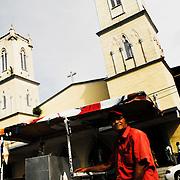 Church towers in David, Chiriqui. Panama