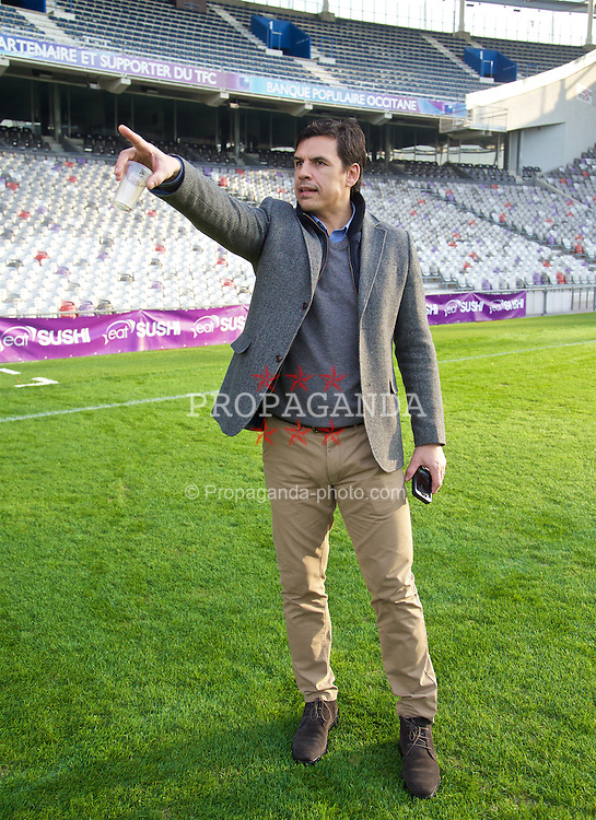 TOULOUSE, FRANCE - Tuesday, January 26, 2016: Wales' manager Chris Coleman visits the Stadium de Toulouse on an inspection visit ahead of the UEFA Euro 2016 Tournament. (Pic by David Rawcliffe/Propaganda)