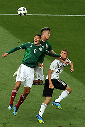 June 17, 2018 - Moscow, Russia - June 17, 2018, Russia, Moscow, FIFA World Cup, First round, Group F, Germany vs Mexico at the Luzhniki stadium. Player of the national team Yozua Kimmieh, Andres Jose Guardado Hernandez, Thomas Mller (Credit Image: © Russian Look via ZUMA Wire)