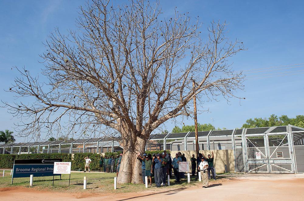 Broome prisoners take time out to watch the Shinju Matsuri Festival, Broome, Western Australia - Photograph by David Dare Parker °SOUTH