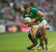 Wembley, Great Britain, Jared PAYNE, during the Pool D Game, Ireland vs Romania.  2015 Rugby World Cup, Venue, Wembley Stadium, London, ENGLAND.  Sunday  27/09/2015 <br /> <br /> Mandatory Credit; Peter Spurrier/Intersport-images]