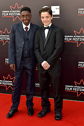 Left to right, Malachi Hallett (Actor) Lorenzo Allchurch (Actor) on the red carpet at the 2016 Edinburgh International Film Festival, WORLD PREMIERE of The White King at Cineworld, Edinburgh18th June 2016, (c) Brian Anderson | Edinburgh Elite media