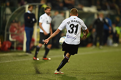 November 3, 2018 - Vercelli, Italy - Italian defender Davide De Marino from Pro Vercelli team playing during Saturday evening's match against Novara Calcio valid for the 10th day of the Italian Lega Pro championship  (Credit Image: © Andrea Diodato/NurPhoto via ZUMA Press)