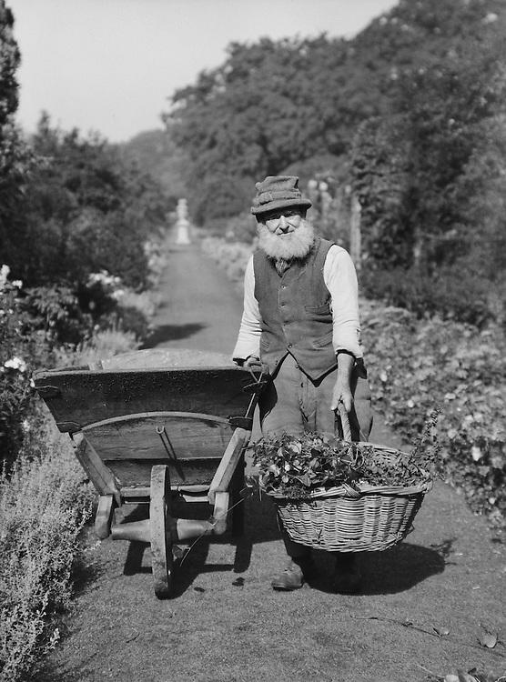 Gardener at Knole, Sevenoaks, Kent, England, 1929