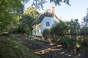 Thatched historic country house, Fifield, near Netheravon, Wiltshire, England, UK