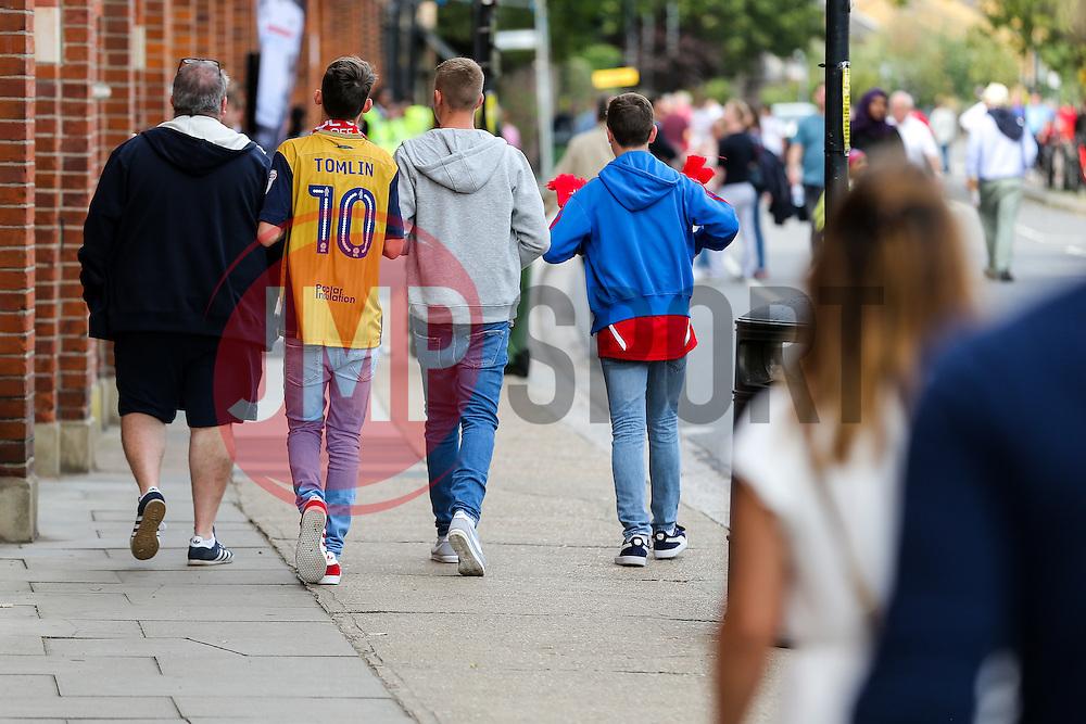 Bristol City fans arrive at the Ground - Rogan Thomson/JMP - 24/09/2016 - FOOTBALL - Craven Cottage Stadium - London, England - Fulham v Bristol City - Sky Bet EFL Championship.