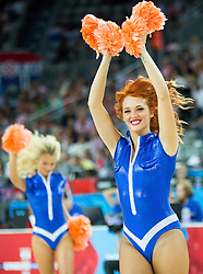 Cheerleaders Escape perform during basketball match between Netherlands and Croatia at Day 5 in Group C of FIBA Europe Eurobasket 2015, on September 9, 2015, in Arena Zagreb, Croatia. Photo by Vid Ponikvar / Sportida