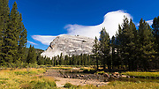 Lenticular cloud over Lembert Dome, Tuolumne Meadows, Yosemite National Park, California USA