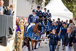 Team Sweden, Kittel Patrick, Nilshagen Therese, Ramel Antonia, Ramel Juliette<br /> European Championship Dressage<br /> Rotterdam 2019<br /> © Hippo Foto - Dirk Caremans