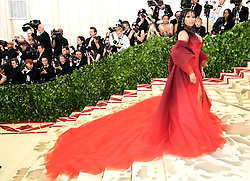 Nicki Minaj attending the Metropolitan Museum of Art Costume Institute Benefit Gala 2018 in New York, USA. PRESS ASSOCIATION Photo. Picture date: Picture date: Monday May 7, 2018. See PA story SHOWBIZ MET Gala. Photo credit should read: Ian West/PA Wire