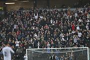 MK Dons fans celebrate during the EFL Sky Bet League 1 match between Milton Keynes Dons and AFC Wimbledon at stadium:mk, Milton Keynes, England on 10 December 2016.