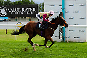 Three Little Birds ridden by Williams Carver and trained by Sylvester Kirk in the Best Free Tips At Valuerater.Co.Uk Handicap (Bath Summer Sprint Series Qualifier) (Class 6) race. - Ryan Hiscott/JMP - 07/08/2019 - PR - Bath Racecourse - Bath, England - Race Meeting at Bath Racecourse