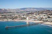 Ventura Pier North Facing Aerial stock Photo