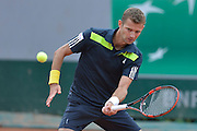 Mariusz Fyrstenberg from Poland competes in men's doubles first round while Day Fourth during Roland Garros 2014 at Roland Garros Tennis Club in Paris, France.<br /> <br /> France, Paris, May 28, 2014<br /> <br /> Picture also available in RAW (NEF) or TIFF format on special request.<br /> <br /> For editorial use only. Any commercial or promotional use requires permission.<br /> <br /> Mandatory credit:<br /> Photo by &copy; Adam Nurkiewicz / Mediasport
