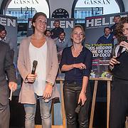 NLD/Amsterdam/20150202 - Presentatie sportblad Helden 25, Frits Barend, benno Leeser en Barbara Barend, Jorien ter Mors en Thijsje Oenema