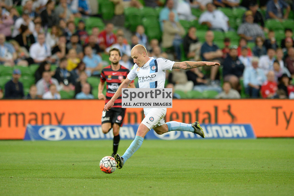 Aaron Mooy of Melbourne City - Hyundai A-League, January 9th 2016, RD14 match between Melbourne City FC v Western Sydney Wanderers FC at Aami Park in a 3:2 win to City. Melbourne, Australia. © Mark Avellino | SportPix.org.uk