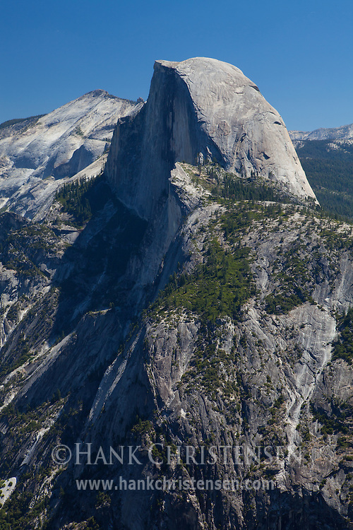 Half Dome stands prominently in the vista at Glacier Point, Yosemite National Park