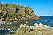 Rocky shoreline along the Atlantic Ocean. Baie Verte Peninsula. <br />Coachman's Cove<br />Newfoundland & Labrador<br />Canada