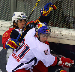 18.12.2011, Albert Schultz Halle, Wien, AUT, European Trophy, Finale, Jokerit vs EC Red Bull Salzburg, im Bild Niko Manelius, (Jokerit, #58) und Ryan Kavanagh, (EC Red Bull Salzburg, #81) , EXPA Pictures © 2011, PhotoCredit: EXPA/ T. Haumer