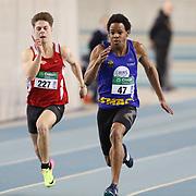 47 KAPENDA RAPHAEL devance 227 PAQUOT JORDAN en séries du 60m lors du Championnat LBFA indoor TC/juniors qui s'est déroulé à Gand (Topsport hal) le 28/01/2017.