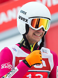 04.01.2015, Bergisel Schanze, Innsbruck, AUT, FIS Ski Sprung Weltcup, 63. Vierschanzentournee, Innsbruck, 2. Wertungsdurchgang, im Bild Kamil Stoch (POL) // Kamil Stoch of Poland reacts after his second competition jump for the 63rd Four Hills Tournament of FIS Ski Jumping World Cup at the Bergisel Schanze in Innsbruck, Austria on 2015/01/04. EXPA Pictures © 2015, PhotoCredit: EXPA/ JFK