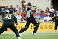 NZ batsman Brendon McCullum in action during the 4th one day international cricket match, New Zealand Black Caps v Australia, Chappell Hadlee Series at the Adelaide Oval, Australia, 10 February 2009..Photo: Andrew Cornaga/PHOTOSPORT
