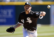 CHICAGO - APRIL 09:  Chris Sale #49 of the Chicago White Sox pitches against the Cleveland Indians on April 9, 2016 at U.S. Cellular Field in Chicago, Illinois.  The White Sox defeated the Indians 7-3.  (Photo by Ron Vesely)  Subject: Chris Sale